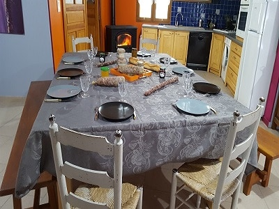 Table repas Gite les bouleaux nains