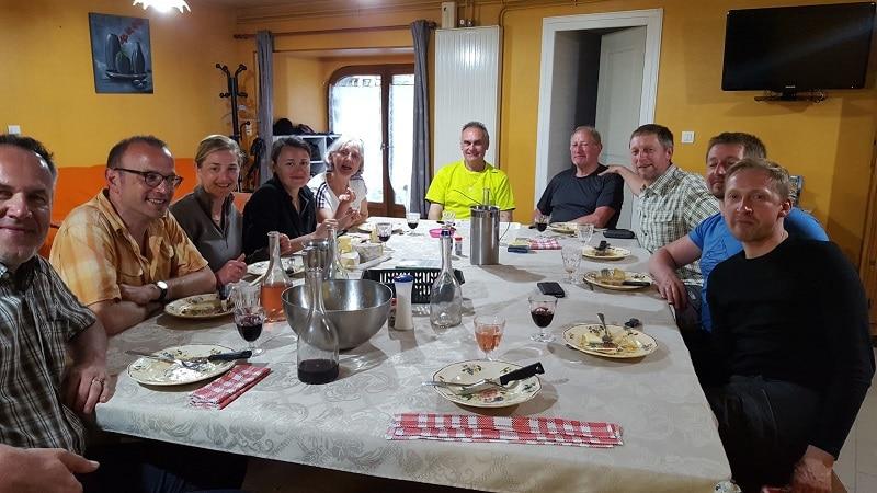 Magnifique famille la Belgique à l'honneur sur les chemin de st jacques au bouleaux nains