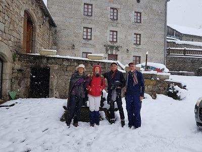 lajo sous la neige au petit matin du 13 mai 2018 courage au pèlerin